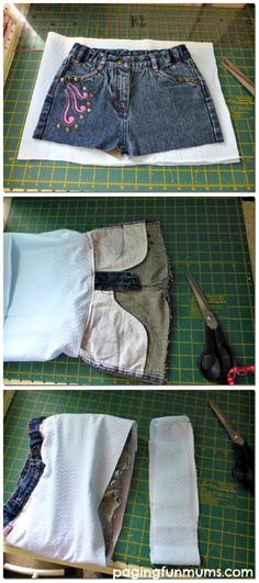 How to Make a Handbag Using a Pair of Jeans -