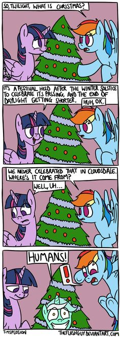 Lyra then goes on to rant about the expansion of the Roman Empire, the dissemination of Christianity, and the appropriation of pagan symbols into local . What is Christmas? My Little Pony Comic, My Little Pony Characters, My Little Pony Drawing, Mlp Comics, Funny Comics, Lyra Heartstrings, Pagan Symbols, Pocket Princesses, Little Poni