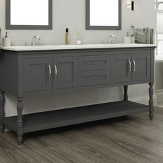 Alya Bath Hampton 72'' Double Contemporary Bathroom Vanity Set