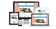 Un modèle de site coloré et ludique qui plaira aux amoureux des animaux de compagnie.
