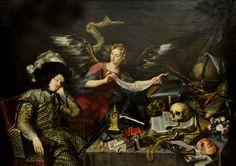 El sueño del caballero, or The Knight's Dream (ca. 1655), by Antonio de Pereda Madrid_Bellas_Artes