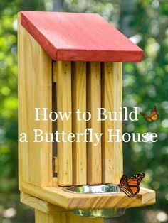 , How to Build a Butterfly House - iSeeiDoiMake. , How to Build a Butterfly House - iSeeiDoiMake Garden Crafts, Garden Projects, Art Crafts, Garden Art, Art Projects, Garden Tips, Homemade Bird Houses, Bird Houses Diy, Building Bird Houses