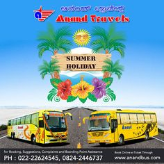 Summer is here, let's give a big cheer! Book online bus tickets from Anand Travels and get flat 5%off on all bus tickets.  http://www.anandbus.com/ #summer #OnlineBusTickets #Bus #OnlineBus