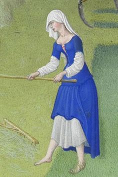 detail from tres riches heures du duc de Berry - june, illumination, c. 1410-1416, France (Musee Conde, castle Chantilly)