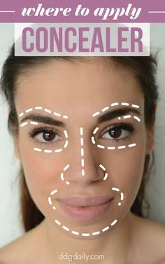 DDG DIY: Where to apply concealer | feature ddg diy beauty tips beauty 2 beauty 2 picture