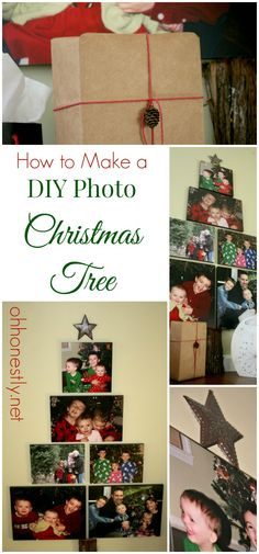 How to Make a DIY Photo Christmas Tree. This easy tutorial gives step-by-step instructions to make a cute tree out of your favorite family photos. #sk #ad