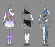 Some Outfit Adopts #13 - sold by Nahemii-san on deviantART