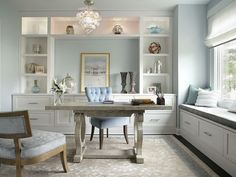 Wow!  Can you imagine having a home office with all of the papers and other stuff tucked away into drawers?