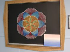 Waldorf ~ 6th grade ~ Geometry ~ chalkboard drawing