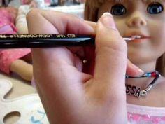 How to Re-paint your American Girl Doll's Pale Lips