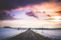 Long Road with Colorful Sunset Free Stock Photo Blue Neighbourhood, Image Sites, Journey To The West, Troye Sivan, Motivational Posters, Praise God, Free Stock Photos, Beautiful Pictures, Sunset