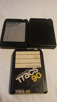 8 track cartridges lot of 3 recording tapes prop