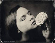 """Ophélie and Ophelia by sidney_k on Flickr.  Sidney Kapsukar:  """"I have rediscovered photography through wet plate because you have to make one image at a time.""""  Learn about Sidney's use of wet plate collodion and other alternative photographic process here:  http://joshcampbellphoto.com/sidney-kapuskar/  #bw #wetplate #collodion #alternative #portrait #nudes"""