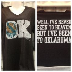 Never Been To Heaven/Oklahoma Charcoal T-Shirt