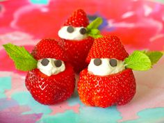 Stuffed Strawberries and Cream Ninjas