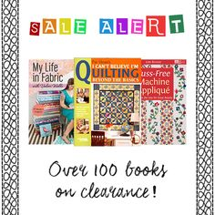 Calling all book worms! We've got a TON of great books on quilting, sewing, crafting, knitting and more on CLEARANCE! Hurry while supplies last! Great Books, Book Worms, Promotion, Quilting, Crafting, Sewing, Crochet, Fabric, Tejido
