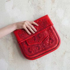 Embroidered Leather Bag