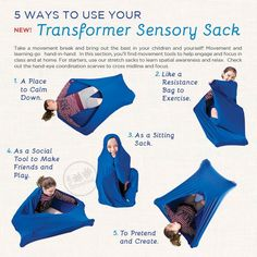 Transformer Sensory Sack™ | Occupational Therapy Body Sock | Sensory Processing Disorder & Sensory Integration Therapy Sack