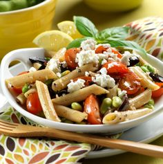 Pasta, Edamame, and Tomato Salad from Making Vegan Bean Salads by Big Ideas Press -- https://www.smashwords.com/books/view/149154