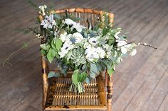 white and green bouquets - photo by Marcucci Photography http://ruffledblog.com/country-mountain-wedding-inspiration