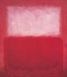 Rosa y blanco sobre rojo (1957), Colección Anderson, Universidad de Stanford