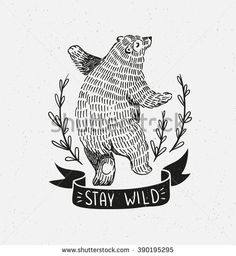 dancing bear illustration - Google-Suche
