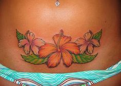 Hawaian Flowers Tattoo Design