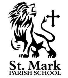 Our School Saint Mark Catholic Church Lion Logo, Christian Clipart Black And White, Black And White Man, Lion And Lamb, Free Clipart Images, Lion Logo, Logo Design, Graphic Design, Print Pictures, Catholic