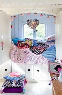 Tween girls window bed