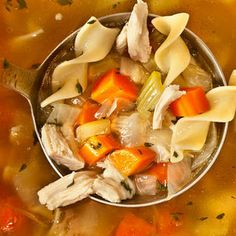 Easy Chicken Noodle Soup from a Leftover Roasted Chicken Recipe Recipe