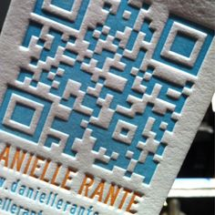 New Letterpress Designs from INVITED INK - Business Cards - Scanned in an analog world - QR code - 200 cards by Invited Ink. $209.00, via Etsy.
