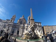When visiting Rome with kids make sure you stop in Piazza Navona. This is the fountain in the centre of the square. It is also one of the most beautiful things you can see in Rome for free