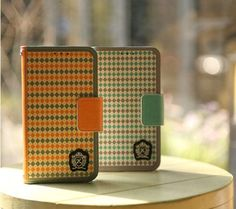 Classic Argyle Pattern Handmade Wallet Case for Galaxy S6 Edge Plus