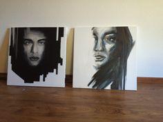 Paintings. Man. Woman