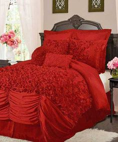 Lush Decor comforters and quilts make it easy to create a stylish room. Shop our bedding and comforter sets in a range of fabrics and patterns. Red Comforter Sets, Ruffle Comforter, King Comforter, Queen Bedding, Deco Baroque, Style At Home, My New Room, Beautiful Bedrooms, Home Interior