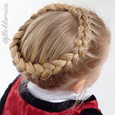 """Dutch crown braid on Emma ❤️"" Photo taken by @flettemia on Instagram, pinned via the InstaPin iOS App! http://www.instapinapp.com (03/13/2015)"
