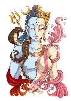ardhanari shvara by In-Sine on DeviantArt