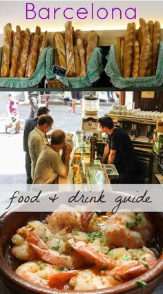 A guide to what food and drink you can't miss in Barcelona, Spain. From juicy prawns to crunchy bread and tapas, Barcelona is a foodie's dream! via The Traveloguer #foodietrips