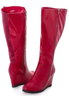 Wide Width Wide Calf Wedge Tall Boot