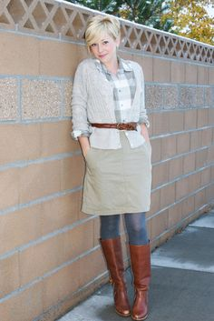For the Love...: RFF: Brown & Plaid & Khaki all over.