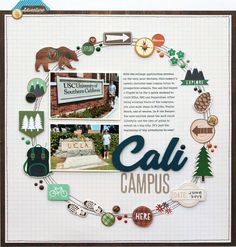 Simple Stories Cabin Fever Scrapbook Layout by Lisa Dickinson.