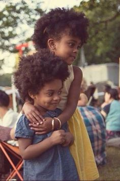 Little Cuties! - http://www.blackhairinformation.com/community/community-pictures/little-cuties/ #kidshairstyles. Natural kids. Afro kids. Afro babies. Kids with afro hair. Curly kids. Little black girls with beautiful hair.