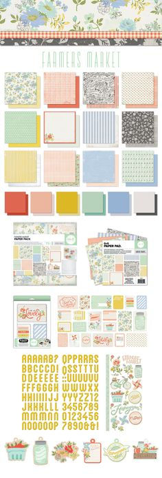 farmers market paper collection we r memory makers