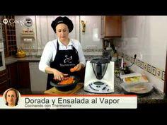 » Dorada al vapor con ensalada de verduras y fruta al vapor con vinagreta de jengibre con thermomix a la vez que se hace una sopa de col china con Thermomix