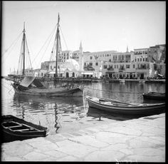 Hotel Bristol at a Chania harbor...circa 1900... source: Austrian National Library