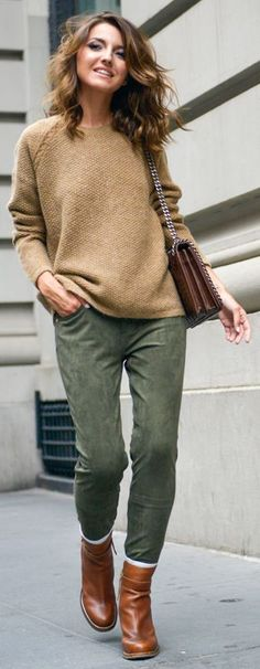 Olive Fall Skinnies by Lovely Pepa