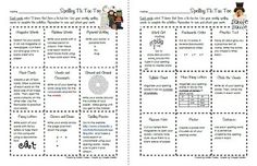 Spelling activities - spelling bingo Spelling Homework, Spelling Practice, Grade Spelling, Spelling Activities, Spelling Words, Spelling Ideas, Activity Ideas, Writing Activities, Teaching Language Arts