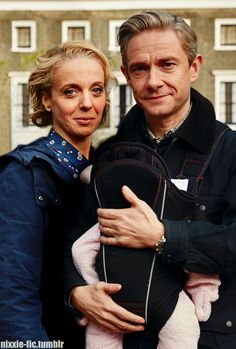 John & Mary Watson and Baby family portrait - S4 promo pictures ..