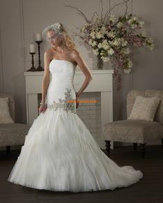 Organza Sleeveless Lace-up Wedding Dresses 2014 Bonny Bridal Wedding Dresses, Mermaid Trumpet Wedding Dresses, Elegant Wedding Gowns, Wedding Dresses 2014, Wedding Dress Sizes, Bridal Gowns, Bridesmaid Dresses, Mermaid Wedding, Wedding Dresses Australia