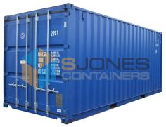 S Jones containers provides new and used shipping containers and storage containers for sale, hire and conversion. 20ft Shipping Container, Used Shipping Containers, Storage Containers For Sale, Metal Containers, Steel Metal, Locker Storage, Blue, Steel